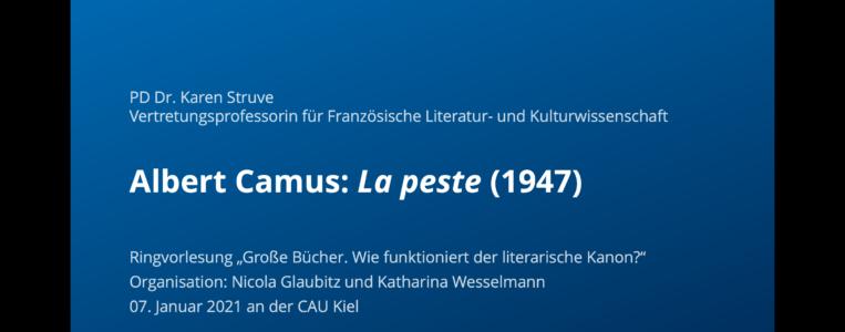 """""""La peste"""" von Albert Camus – ein großes Buch"""